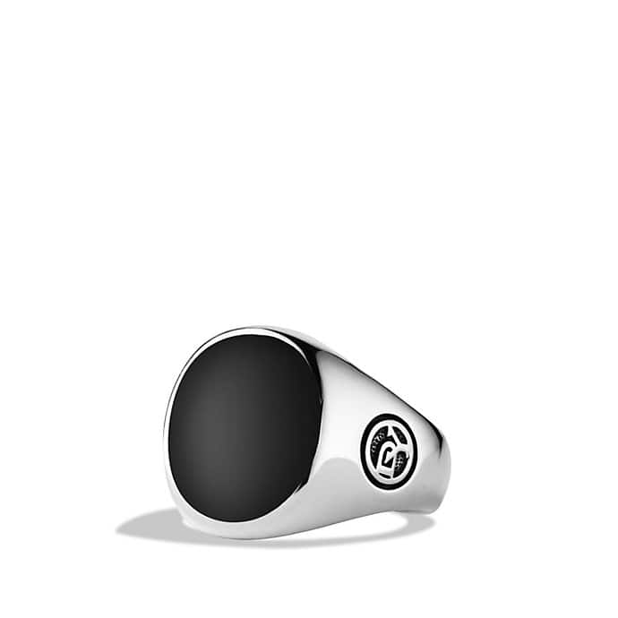 Exotic Stone Signet Pinky Ring with Black Onyx