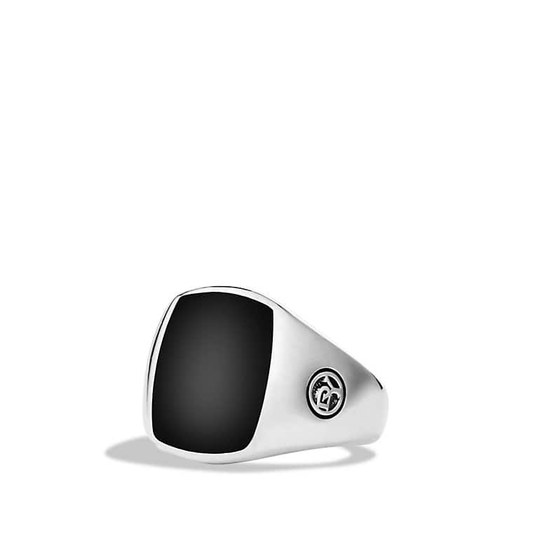 Exotic Stone Pinky Ring with Black Onyx