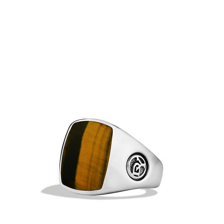 Exotic Stone Pinky Ring with Tiger's Eye