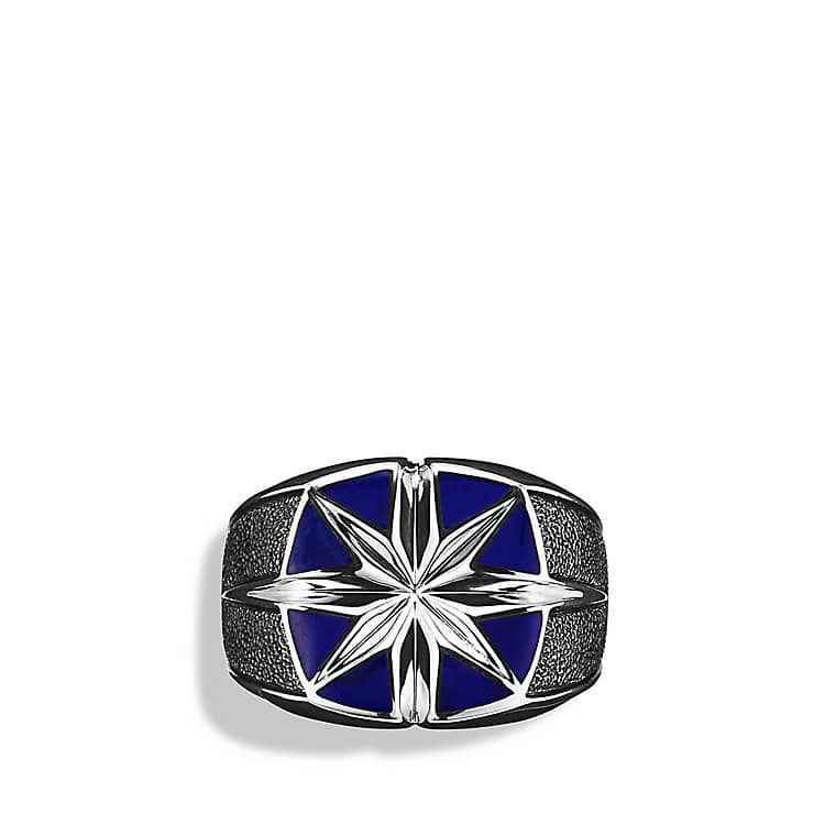Maritime North Star Signet Ring with Lapis Lazuli