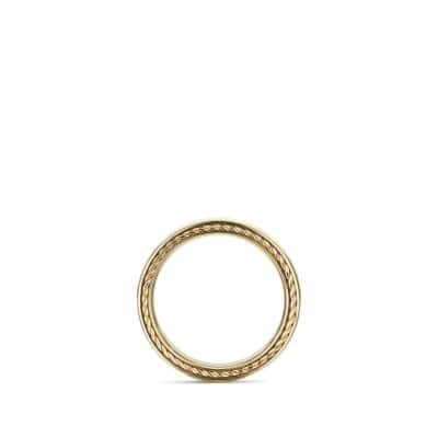Streamline Band Ring in 18K Gold, 6mm