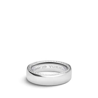 Streamline Band Ring in Platinum, 6mm