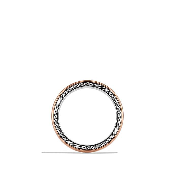 Streamline Narrow Band Ring with Rose Gold