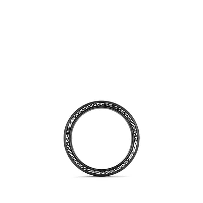 Streamline Narrow Band Ring with Black Titanium, 6mm