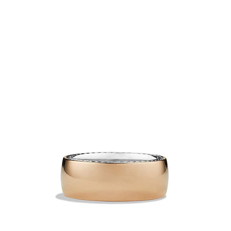 Streamline Wide Band Ring with Rose Gold