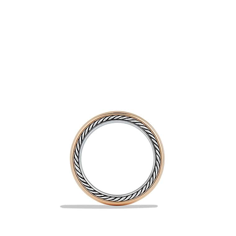Streamline Wide Band Ring in Rose Gold