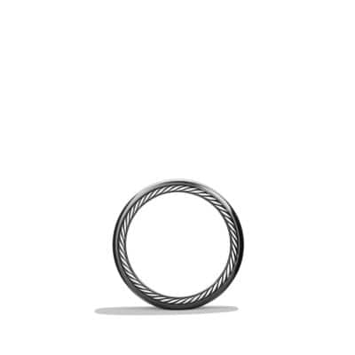 Streamline Wide Band Ring with Black Titanium, 9mm