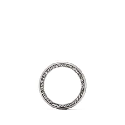 Streamline Wide Band Ring with Gray Titanium, 9mm