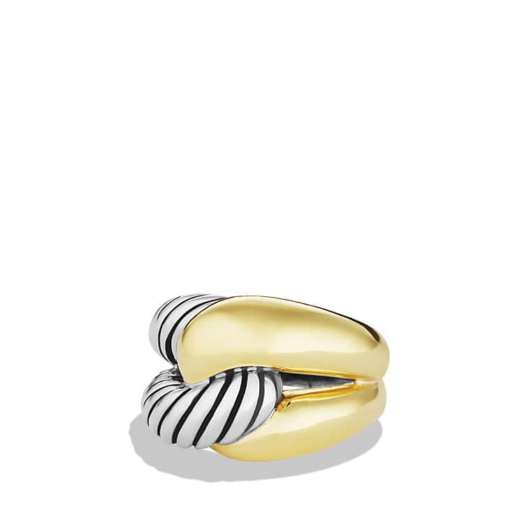 Infinity Large Ring with Gold