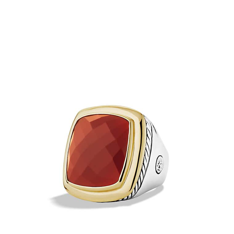 Albion Ring with Carnelian and Gold
