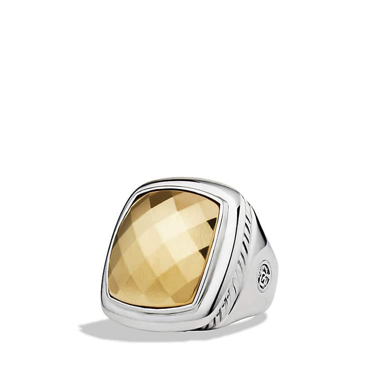 Albion Ring with Gold Dome