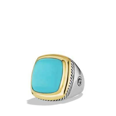 Albion Ring with Turquoise and Gold