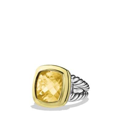 Albion Ring with Champagne Citrine and Gold
