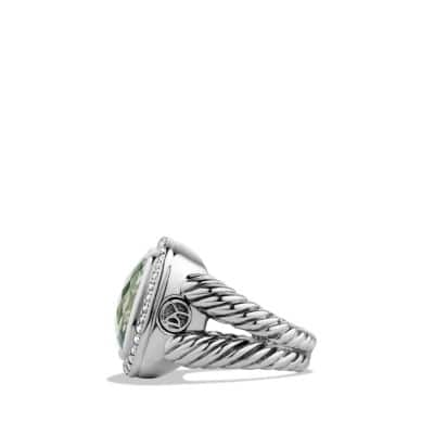 Albion Ring with Prasiolite and Diamonds