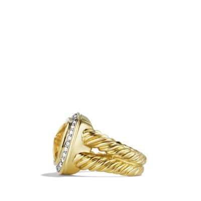 Albion Ring with Champagne Citrine and Diamonds in Gold