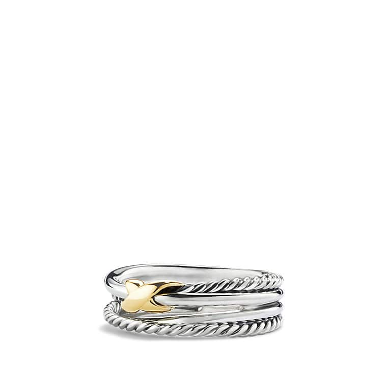 Crossover Ring with 18K Gold