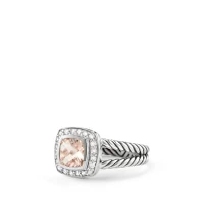 Petite Albion® Ring with Morganite and Diamonds thumbnail