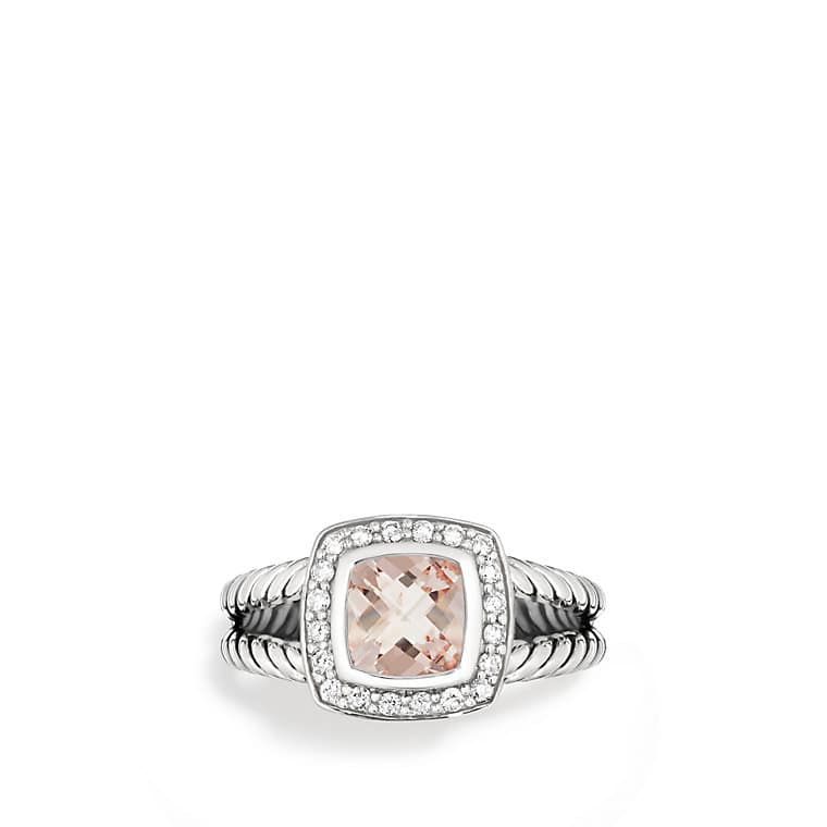 Petite Albion® Ring with Morganite and Diamonds