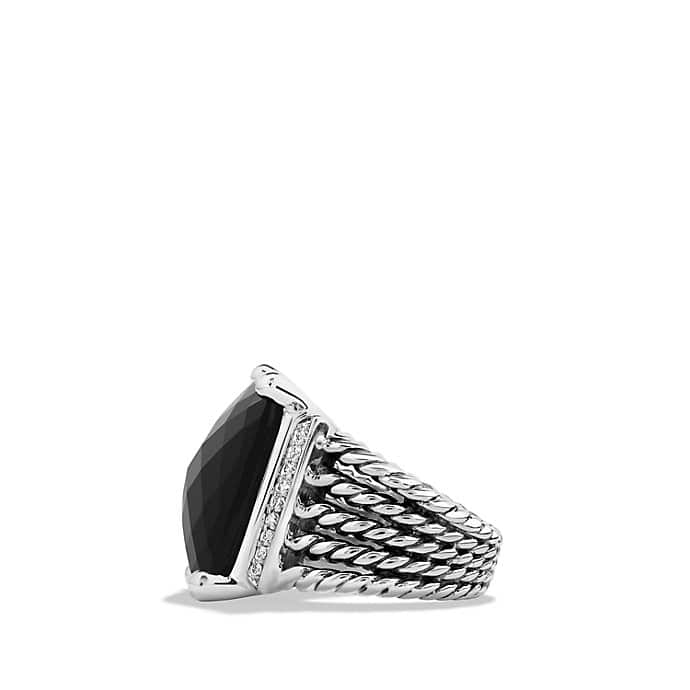 Wheaton Ring with Black Onyx and Diamonds