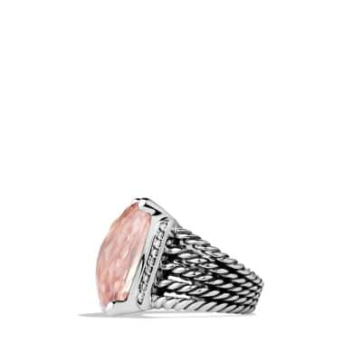 Wheaton Ring with Morganite and Diamonds