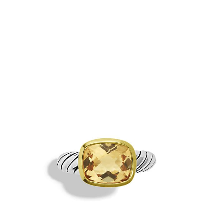 Noblesse Ring with Champagne Citrine with Gold