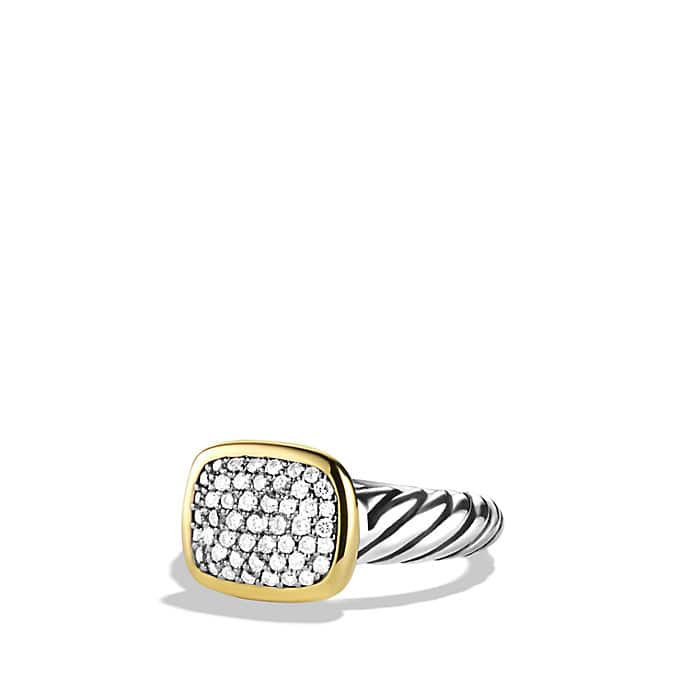 Noblesse Ring with Diamonds with Gold