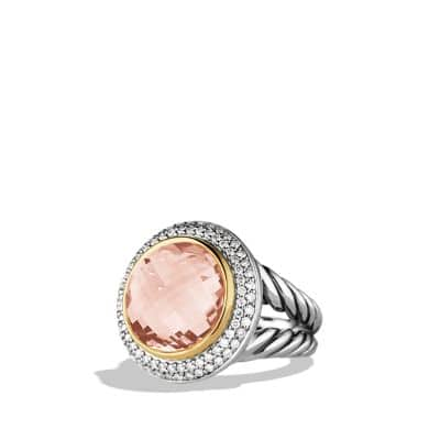 Albion Ring with Morganite, Diamonds and Rose Gold