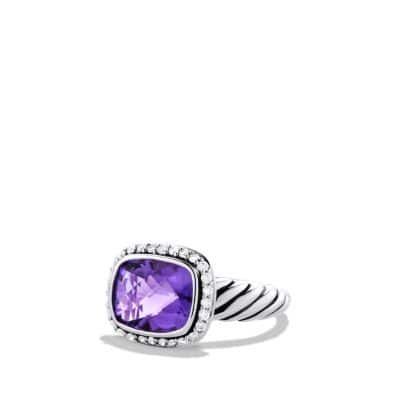 Noblesse Ring with Amethyst and Diamonds