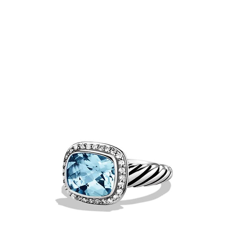 Noblesse Ring with Blue Topaz and Diamonds