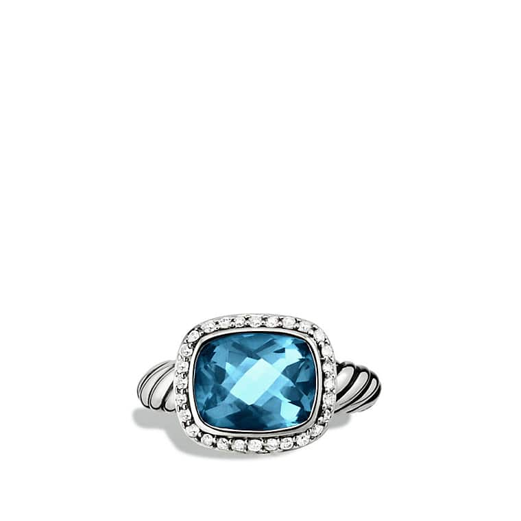 Noblesse Ring with Hampton Blue Topaz and Diamonds