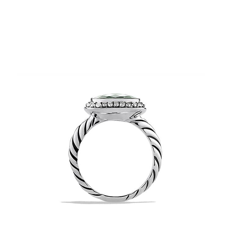 Noblesse Ring with Prasiolite and Diamonds