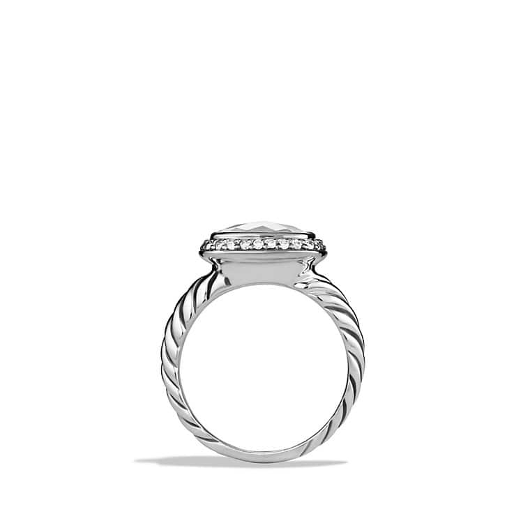 Noblesse Ring with White Topaz and Diamonds