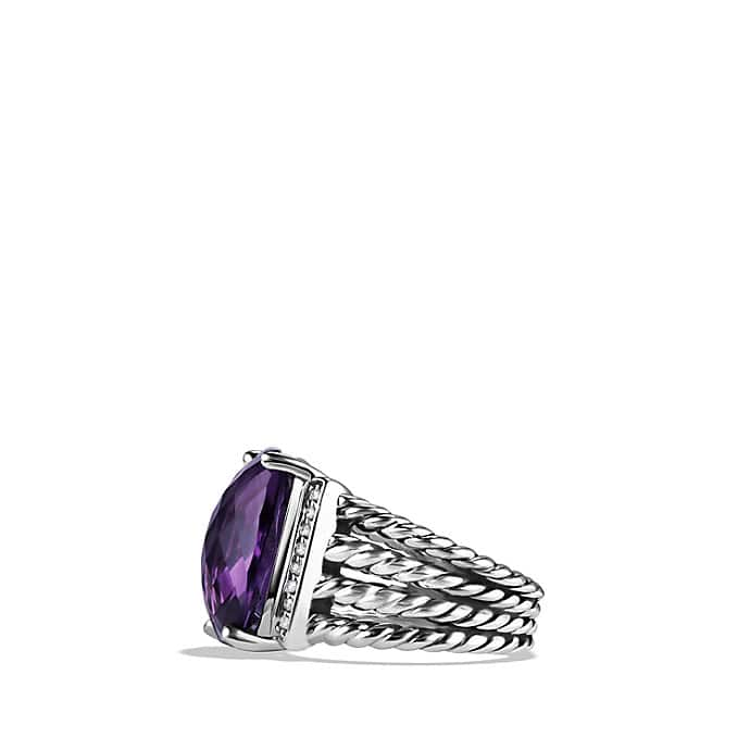 Wheaton Ring with Amethyst and Diamonds
