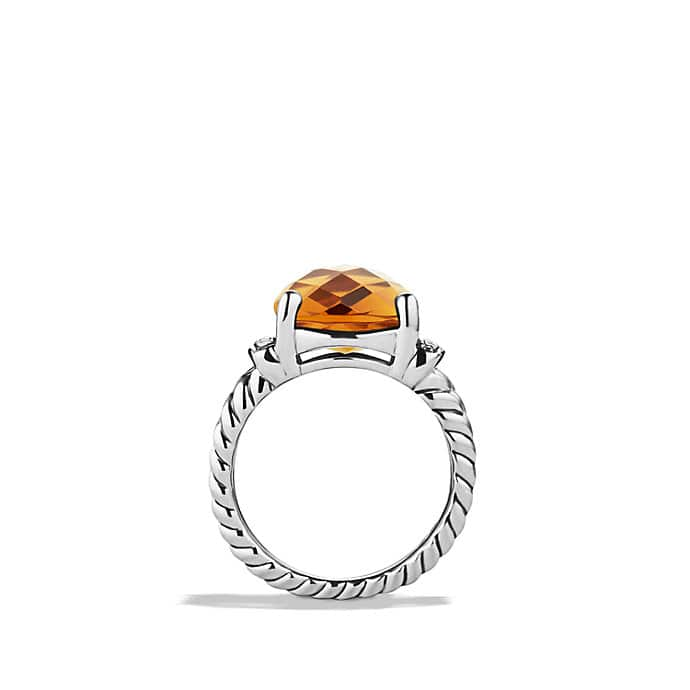 Wheaton Ring with Citrine and Diamonds