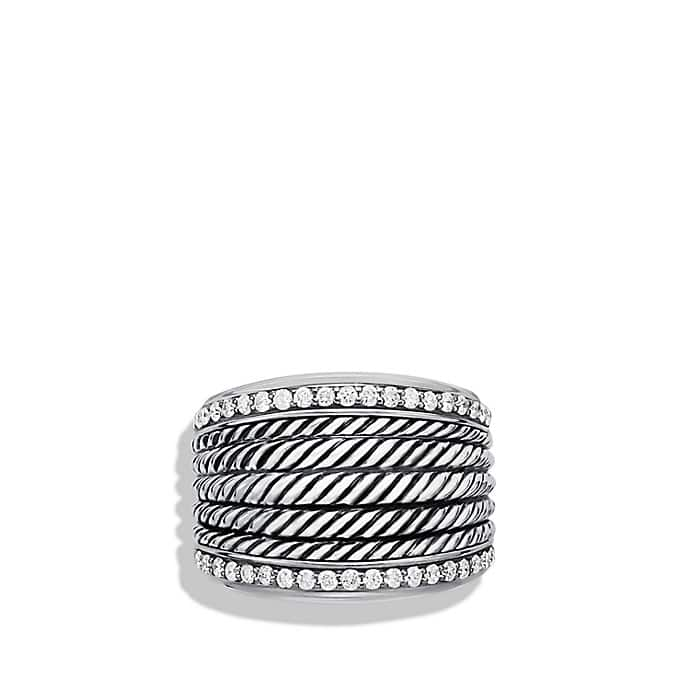 Wheaton Band Ring with Diamonds