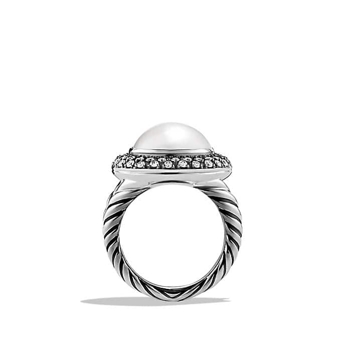 Cerise Ring with Pearl and Diamonds