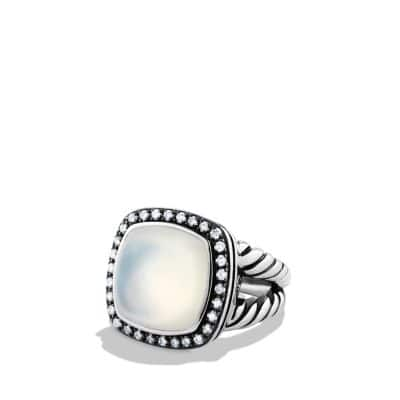 Albion Ring with Moon Quartz and Diamonds