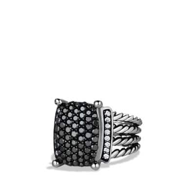Wheaton® Ring with Black and White Diamonds