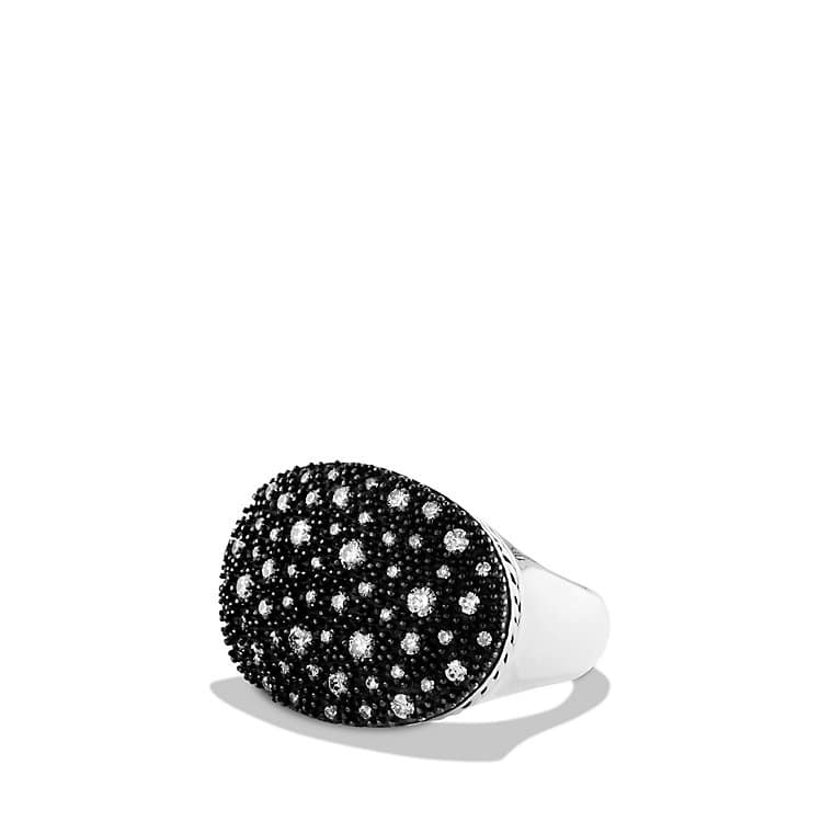Midnight Mélange Small Oval Ring with Diamonds
