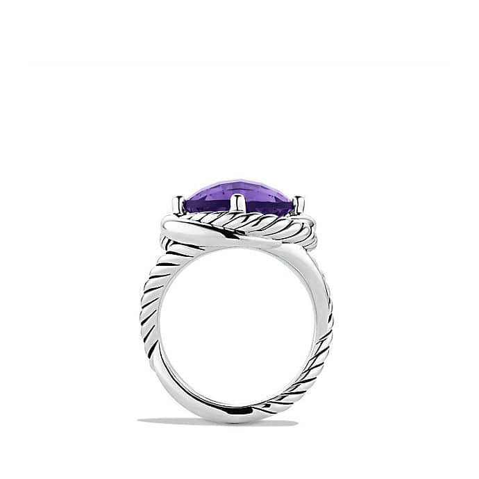 Infinity Ring with Amethyst