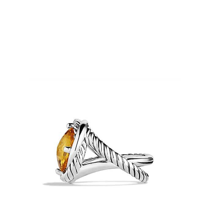 Infinity Ring with Citrine