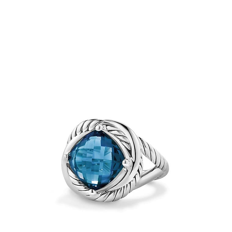 Infinity Ring with Hampton Blue Topaz