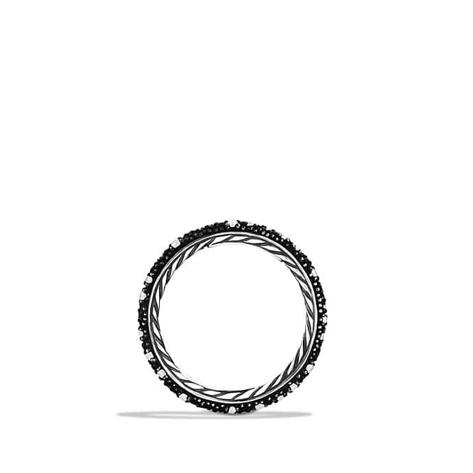 Midnight Mélange Band Ring with Black Diamonds