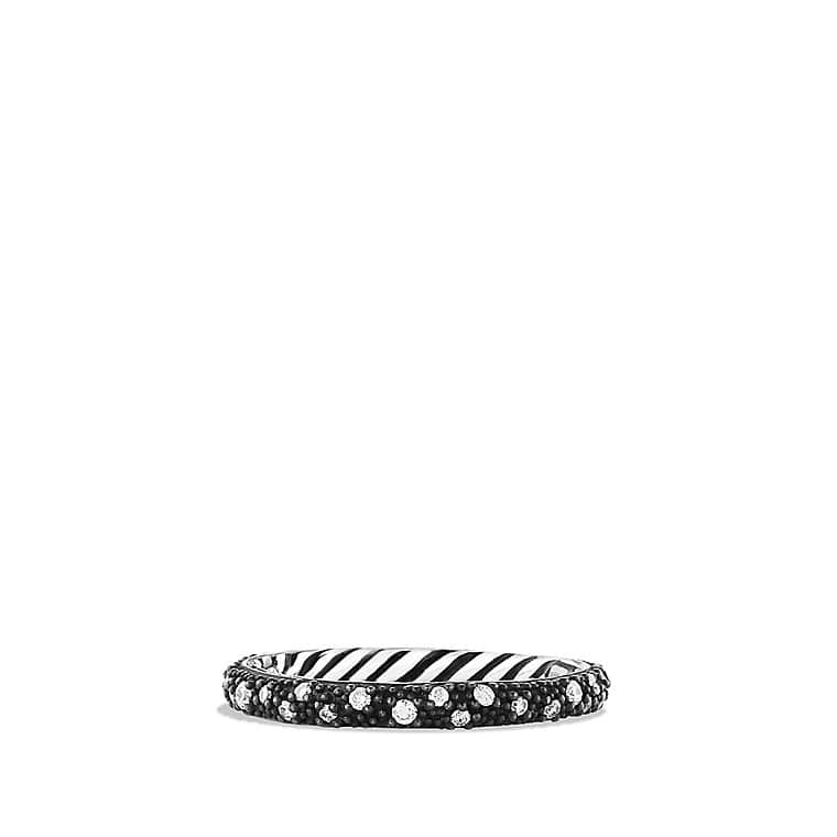 Midnight Mélange Band Ring with Diamonds