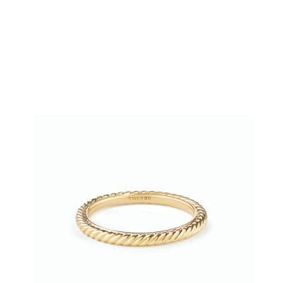 Cable Classics Band Ring in Gold