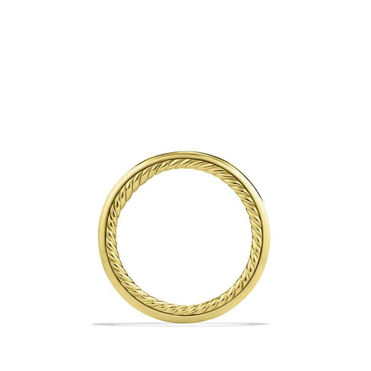 Cable Inside Band Ring in Gold