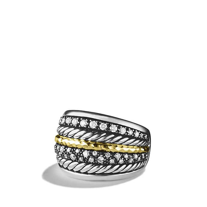 Midnight Mélange Ring with Diamonds and Gold