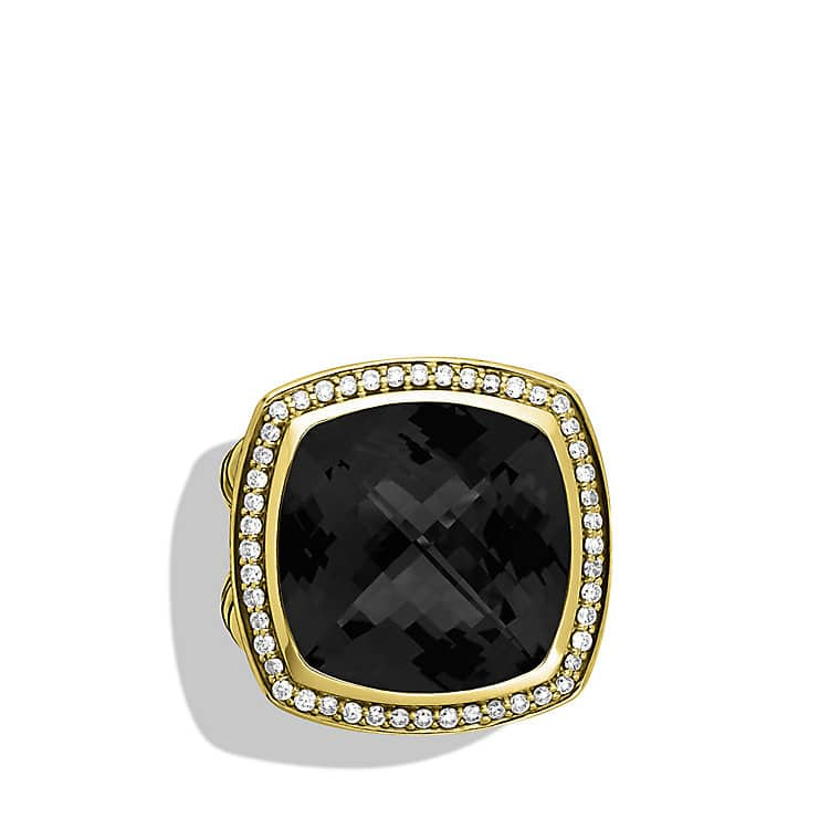 Albion Ring with Black Onyx and Diamonds in Gold