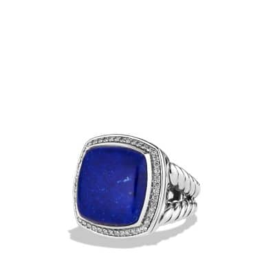 Albion Ring with Lapis Lazuli and Diamonds