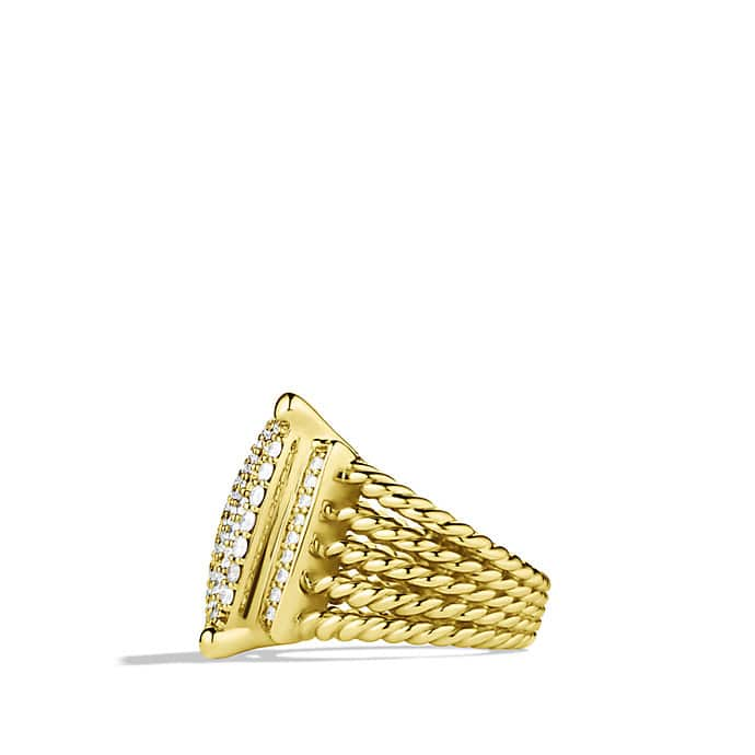 Wheaton Ring with Diamonds in Gold